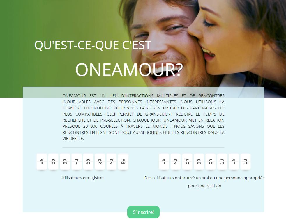 Rencontres et bavarder sur le site de rencontre de Oneamour